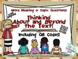 Word Meaning & Topic Questions: Thinking About & Beyond th