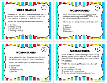 Word Meaning Task Cards