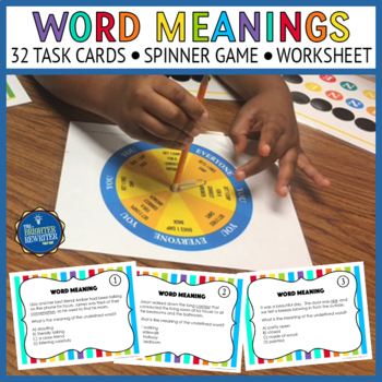 Vocabulary Task Cards and Game