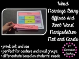 Word Meanings Using Affixes and Root Word Manipulation Mat