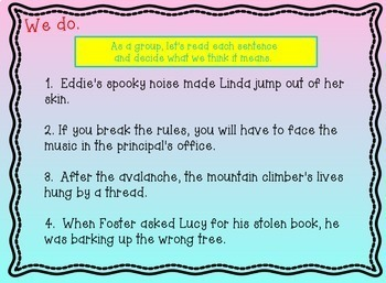 Idioms (Figurative Language) & Word Meanings Power Point Common Core Lesson Plan