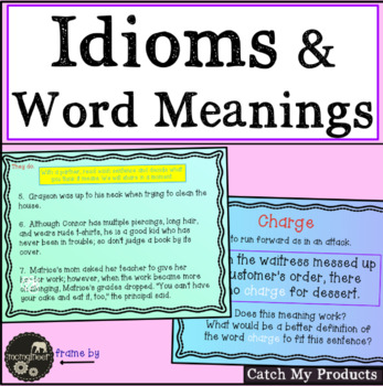 Word Meanings & Idioms