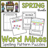 Spring Bundle - Word Mines Spelling Patterns Puzzles - March April May