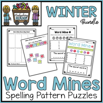 Word Mines - Winter December January February - Spelling Puzzles
