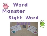 Word Monster Sight Word Game