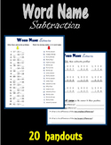 Word Name Subtraction