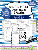Word Nerd: Word Games & Puzzles for Middle School ELA