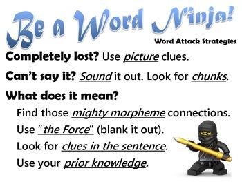 Word Ninja - Word Attack Strategies Poster