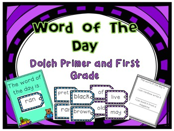Word Of The Day Primer and First
