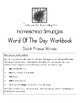 Word Of The Day Workbooks, Primer Sight Words