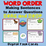 Word Order 1 - Make a sentence to answer a question BOOM t
