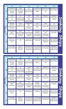 Word Order Battleship Board Game