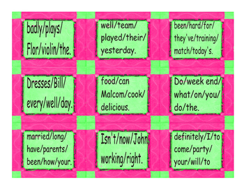 Word Order Cards