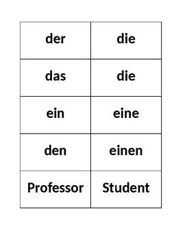 Word Order in German Sentence Strips Activity