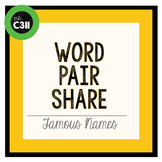 PARTNER GAME: famous names