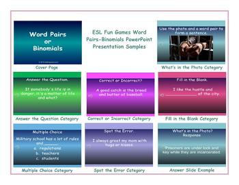 Word Pairs-Binomials PowerPoint Presentation