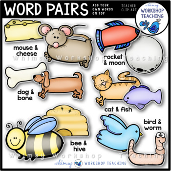 Word Pairs Clip Art - Whimsy Workshop Teaching