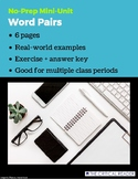 Word Pairs: Lesson + Exercise
