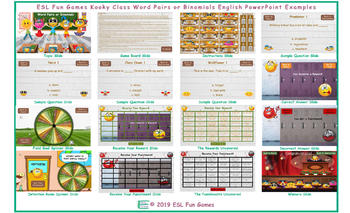 Word Pairs or Binomials Kooky Class English PowerPoint Game