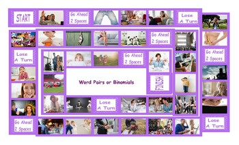 Word Pairs or Binomials Legal Size Photo Board Game
