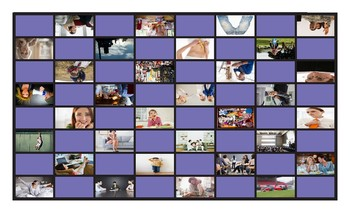 Word Pairs or Binomials Legal Size Photo Checkers Game