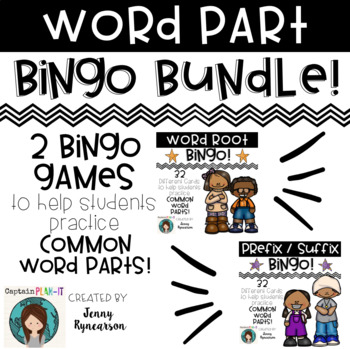 Word Part BINGO Bundle! Have fun learning prefixes, suffix