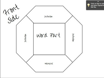 Word Part Foldable