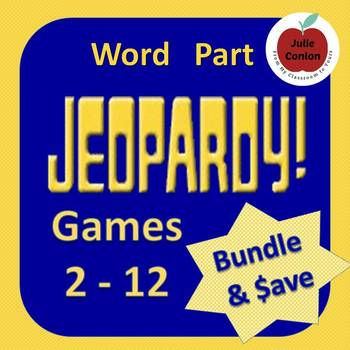 Word Part Jeopardy Big Bundle