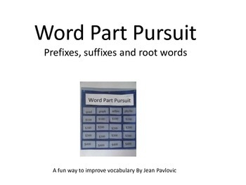 Word Part Pursuit