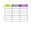 Word Part Sheet