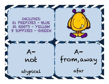 Word Parts Affixes Level 4 Study Flash Cards