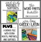Word Parts Bundle: Roots, Prefixes, and Suffixes