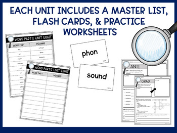 Greek & Latin Roots, Prefixes, & Suffixes Workbook (Flashcards Included!)