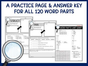 Root Words, Prefixes, & Suffixes Unit Bundle