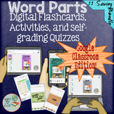 Word Parts Interactive for Google and One Drive Distance Learning