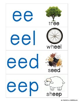Word Parts Pack: Short and Long E