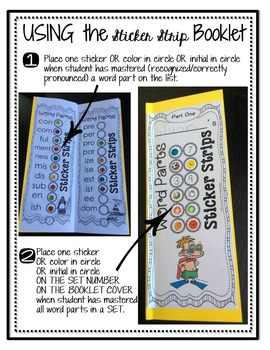 Decoding Multisyllabic Words STICKER STRIPS Record & Reward Reading Intervention