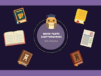 Word Parts Scattergories Review