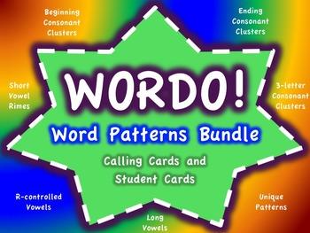Word Patterns WORDO Bundle (Bingo Games)