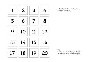 Maths Number Match 1-20