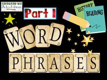 Word Phrase Set 1
