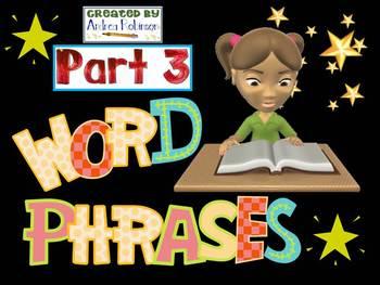 Word Phrase Set 3