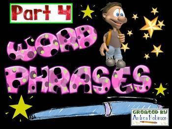 Word Phrase Set 4