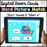 Word Picture Match Boom Cards: Silent e and Short Vowels