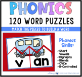 Word Picture Puzzle Cards Literacy Center from Phonics Bundle 8