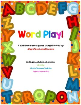 Word Play- An early sound awareness game