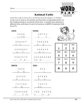 Word Play: Animal Calls