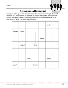 Word Play: Antonym Alignment