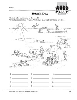 Word Play: Beach Day