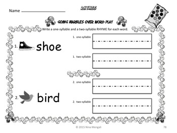 Word Play Bundled Set 80 PRINT and GO Worksheets 8 Posters & 8 Sets of Bookmarks